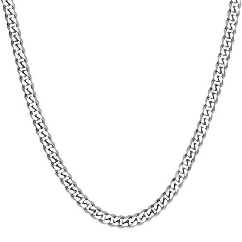 SoulCats® Halskette/Panzerkette aus Edelstahl für Männer in Silber, Größe: 5 mm, Kettenlänge ca. 70 cm