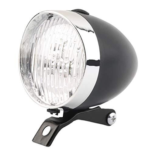 ROUNYY Fahrradlicht Vorne zugelassen Retro Fahrradlampe Fahrrad Scheinwerfer Led Fahrradbeleuchtung IPX5 Wasserdicht Klassische LED Vintage Fahrrad Scheinwerfer Fahrrad Retro Scheinwerfer (Schwarz)