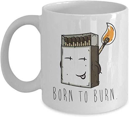 N\A Taza de café Divertida Taza de té de café Caja de cerillas Caja de fósforos Taza de coleccionista Taza de café novedosa