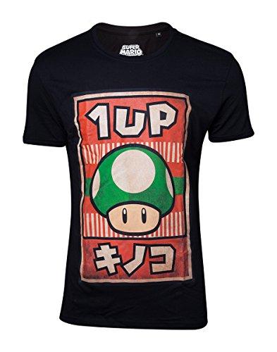 Super Mario Propaganda 1-Up Mushroom T-shirt noir M