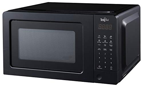 Total Chef TCM07 700 Watts Microwave Oven with Digital Controls (0.7 Cu. Ft./20 Liters), Compact, Black
