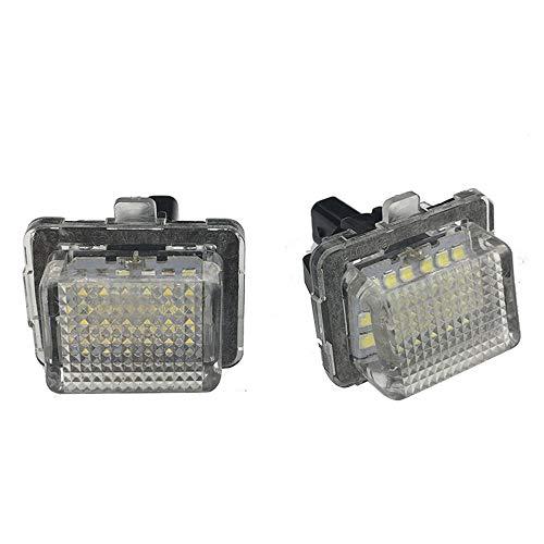 2Pcs 18 LED Nummer Kennzeichenbeleuchtung Lampe für W204 W212 C207 C216 W221 S204 Automobil Rücklicht