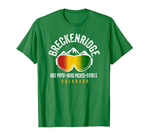 Breckenridge Rasta Reggae Colorado Ski and Snowboard Goggles T-Shirt