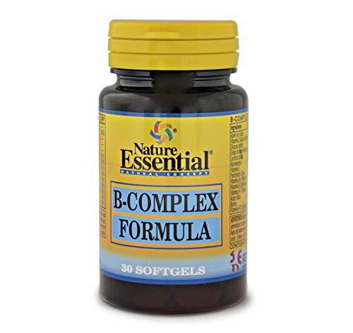 B-complex formula 500 mg. 30 perlas con vitaminas C, E, B-1, B-2, B-3, B-5, B-6, B-9, B-12 y Biotina