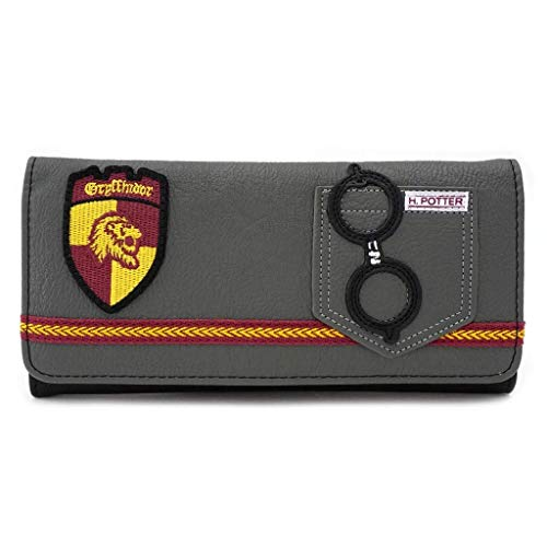 Loungefly x Harry Potter Gryffindor Trifold Wallet, Gray, One Size