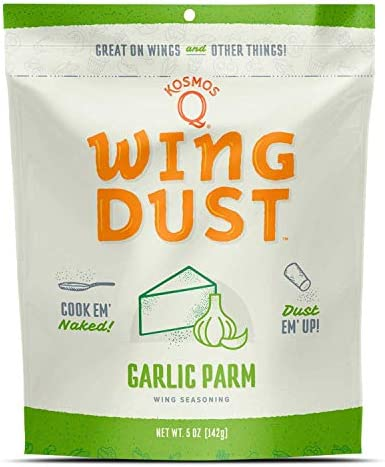 Kosmos Q Garlic Parmesan Wing Dust Chicken Wing Seasoning Dry BBQ Rub Spice 5 oz Bag product image