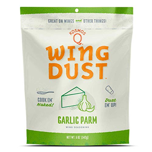 Kosmos Q Garlic Parmesan Wing Dust | Chicken Wing Seasoning | Dry BBQ Rub Spice | 5 oz. Bag