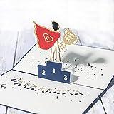 Tarjeta de felicitación 3D para el día del padre, hecha a mano, tarjeta de felicitación para padres, cumpleaños, amor, papá (D1)