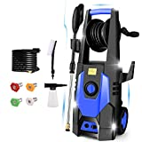 mrliance 3600PSI Electric Pressure Washer 2.4GPM Power Washer 1800W High Pressure Washer Cleaner Machine with 4 Interchangeable Nozzle & Hose Reel, Best for Cleaning Patio, Garden, Yard, Vehicle(Blue)