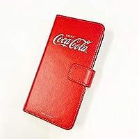 Galaxy Note9 SCV40 ケース [デザイン:A.ビックロゴ(赤)/マグネットハンドあり] Coca-Cola コカ コーラ au ギャラクシー scv40 手帳型 スマホケース スマホカバー 手帳 携帯 カバー