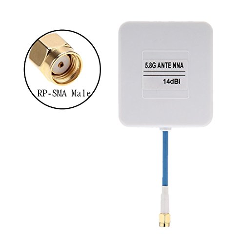 Crazepony-UK FPV Antenne 14dbi High Gain Panel White RP-SMA Male Patch Antenna for Multicopter Racing Drone by
