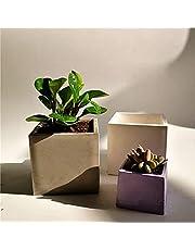 AniYY DIY 10 cm kvaure betong blomkruka silikonform suckulent planterare silikonform hemlagad suckulent växt krukformar