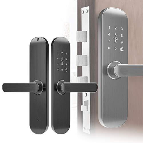 Tiyabdl 5 In 1 Elektronisches Smart Türschloss, WiFi Touchscreen Fingerabdruck Passwort Door Lock Mit APP Entriegelung Für Das Home Office
