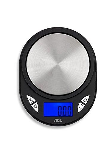 ADE Báscula digital de bolsillo TE1700 Fred - Báscula portátil y profesional con precisión 0,01 g y hasta 10 kg. Display LCD, plata y negro