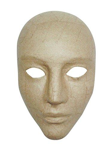 Décopatch AC363O Maske Karneval Integral aus Pappmaché, 11 x 17 x 24 cm, zum Verzieren, Kartonbraun