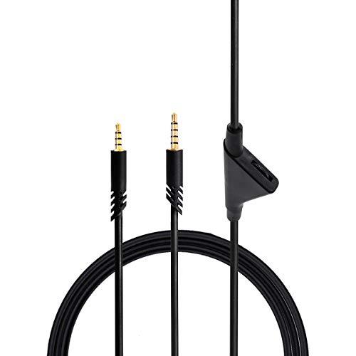 Xingsiyue Cable de Control de Volumen de Repuesto para Astro A10 / A40 / A30 / A50 / Logitech G233 / G433 Auriculares para Juegos (2 m / 6.6 pies)