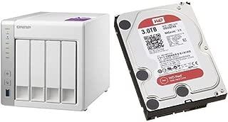 【セット買い:NASキット+WD Red HDD 3TB 1台】QNAP(キューナップ) TS-431P + WD Red 3TB NAS用 WD30EFRX