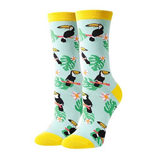 HAPPYPOP Socken für Damen und Mädchen, Motiv: Insekten, Biene, lustige Einhorn/Schmetterlinge - - Medium