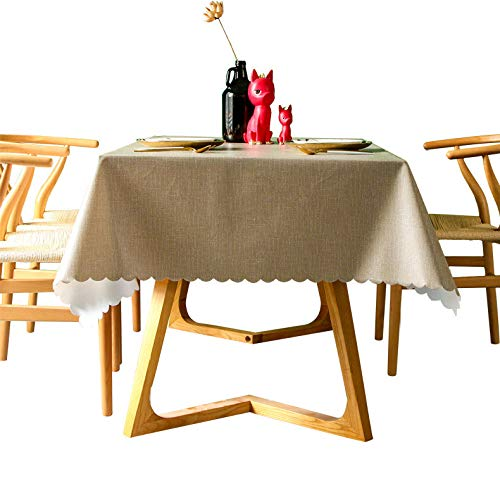 langchao Table Cover Table Banner Solid Color Waterproof Checkered Tablecloth Disposable Oil-proof Anti-scald Coffee Table Mat Cotton Hemp Restaurant Tablecloth