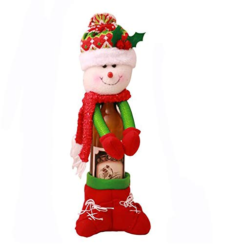 unknow Sawyerda - Funda protectora para botella de vino, diseño de muñeco de nieve