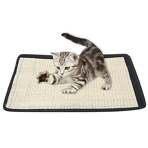 solawill Rascador para Gatos,Gatos de Sisal Natural Tabla de Rascar para Mascotas Rascador Antideslizante para Gatos Almohadilla para Rascar El Gato moler Garras de Gato y Proteger alfombras