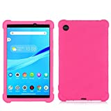 SsHhUu Funda para Lenovo Tab M7, Funda de Silicona Protectora a Prueba de Golpes para niños para Lenovo Tab M7 (2nd Gen) 2019 Tablet (TB-7305L/TB-7305X), Rose