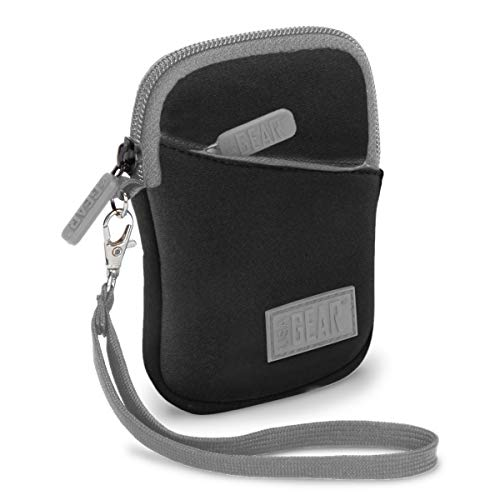 USA Gear Compact Digital Camera Case Sleeve for Nikon COOLPIX S33 , AW130 , A10 , S7000 , S3700 , A300 & More Point and Shoot Cameras - Padded Neoprene , Extra Accessory Storage , & Belt Loop