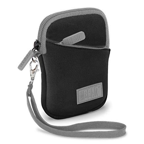 USA Gear Borsa Custodia per Fotocamera Digitale di Neoprene con Passante per Cintura e Tasche per Accessori - Si adatta a fotocamere compatte Canon, Nikon, Samsung, Panasonic, Sony, Fujifilm e Altre