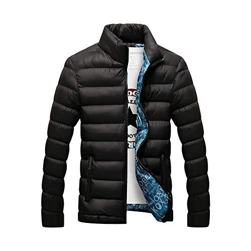 Daytwork Doudoune Légère et Compressible - Vêtements d'extérieur Rembourré Réchauffer Hiver Col Montant Casual Puffer Quilted Manteau en Duvet,Noir #1 L