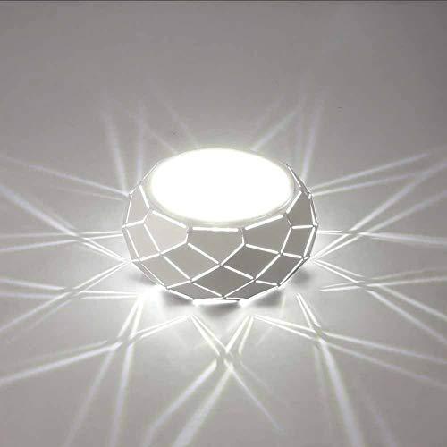 SANTITY 5W Lámpara LED de Techo Moderno Plafon LED de Techo Metal para Dormitorio Corredor Entrada Escaleras Lámpara Redonda Empotrada 16CM Pequeña Luz Interior
