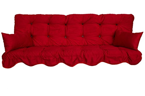 Adlatus-Kühnemuth Polsterauflage Hollywoodschaukel 150x50 Modell 590 Farbe rot