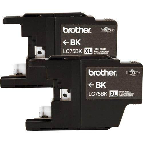 Brother LC752PKS cartucho de tinta Negro - Cartucho de tinta para impresoras (Original, Tinta a base de pigmentos, Negro, 2 pieza(s), MFC-J280W, MFC-J425W, MFC-J430w, MFC-J5910DW, MFC-J625DW, MFC-J6510DW, MFC-J6710DW, MFC-J6910dw,..., Alto rendimiento (XL))