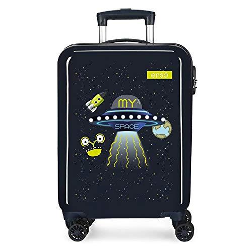 Enso My Space Maleta de Cabina Azul 38x55x20 cms Rígida ABS Cierre de combinación Lateral 34L 2,66 kgs 4 Ruedas Dobles Equipaje de Mano