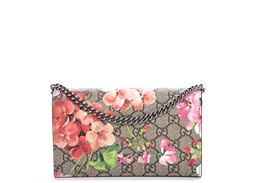 Gucci Blossoms Pink Dry Rose GG Blooms Wallet Chain Bag Flowers Leather New