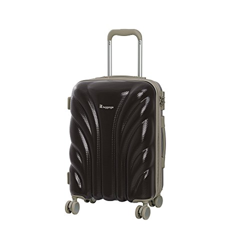 it luggage Cascade 8 Wheel Hard Shell Single Expander Cabin With Tsa Lock Suitcase, 54 cm, 50 L, Coffee Bean