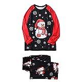 ROMIDA Pyjamas de Noël assortis pour papa maman enfant Christmas Pajamas Family Matching Sleepwear Xmas Nightgow Vêtements de Nuit Vêtements Pyjama familial automne et hiver
