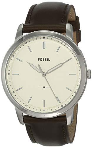 Fossil Herren Analog Quarz Uhr mit Leder Armband FS5439