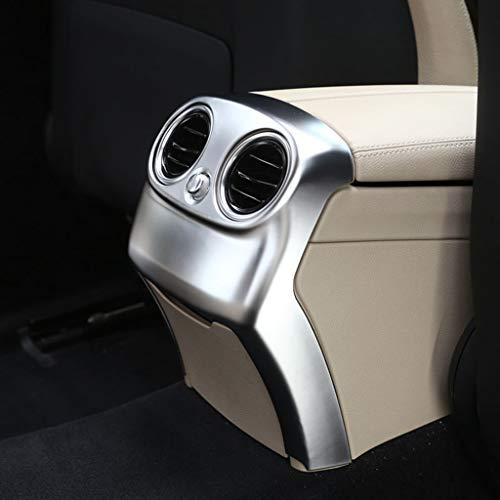 Accessoires de Voiture en Plastique ABS chromé Climatisation de Sortie arrière Couvercle de Ventilation Garniture Argent Mat pour W205 Classe C 2015-2018, Pas pour C300 2015