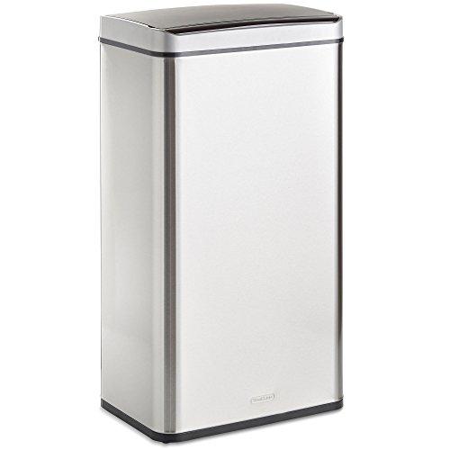 VonHaus 70L Abfalleimer mit Sensor – Automatisches Öffnen/Schließen – Abfallbehälter aus Edelstahl für den Innenbereich