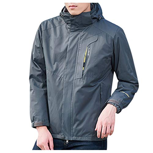 %67 OFF! Outdoor Jacket Men Winter Ski Jacket Windbreaker Waterproof Detachable Hooded Rain Coat for...