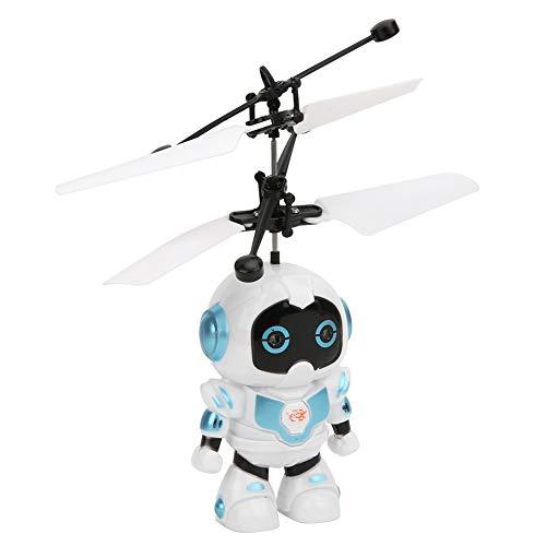 Giocattolo aereo a induzione, giocattolo drone RC semplice da usare con luci fredde a LED per regali per bambini(robot)