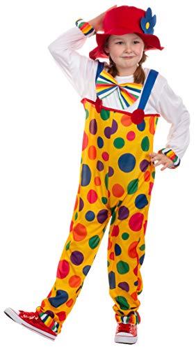 Brandsseller Kinder Kostüm Verkleidung für Karneval Fasching Halloween - Clown S