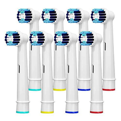 8 Stück Aufsteckbürsten Kompatibel mit Braun Oral B Elektrische Zahnbürsten Ersatzbürsten Professional Care 500 600 1000 2000 2500 3000 5000 7000 und Vitality Pro Smart Genius
