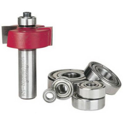 """Freud Flush, 1/8"""",1/4"""",5/16"""",3/8"""",7/16"""",1/2"""" Depth Rabbeting Bit Set with interchangeable bearings with 1/2"""" Shank (32-524)"""