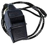 Fox 40 Sonik Blast CMG Fingergrip Pealess - Silbato de Piel (2 Unidades), Color Negro