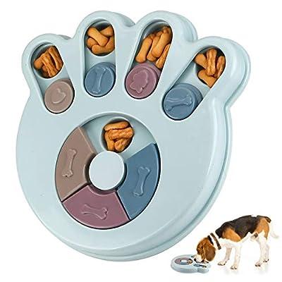 RJEDL Dog Puzzle Feeder Treat Toys, Interactive Stimulation Dog Toys, Brain Games IQ Training Bowl Funny Feeding, Dispenser Non-Slip Slow Feeder Plate Toy for Dog Pet Puppy (Paw)