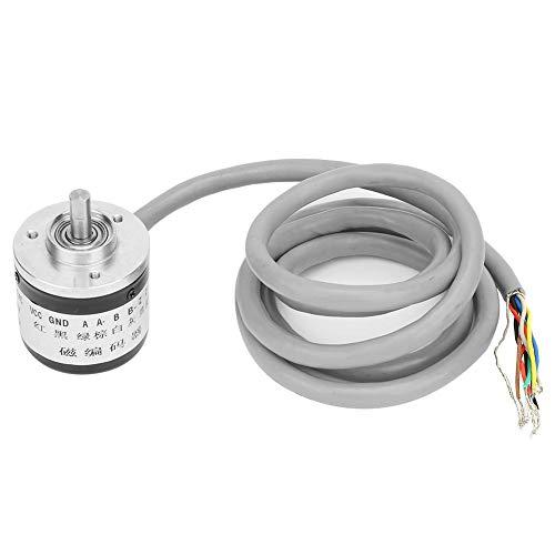 インクリメンタル磁気ロータリーエンコーダ1024P/R DC5Vアブソリュートタイプ光電式エンコーダ38mm OD 6mmシャフト 1.2mケーブル付き