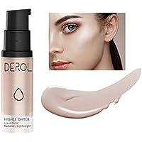 ONLYOILY Resaltador líquido Iluminador Iluminador líquido maquillaje facial en crema brillo base y corrector ultraconcentrado (02)