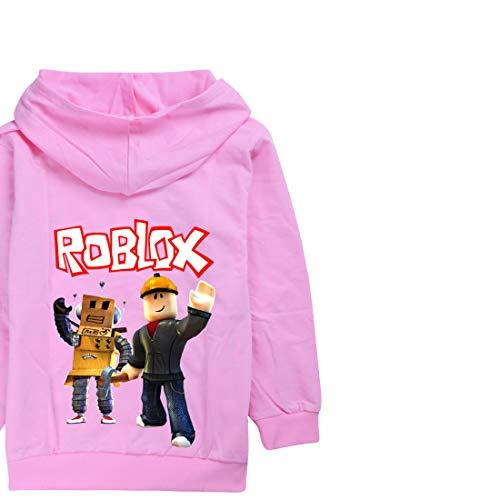 Roblox Jacke mit Reißverschluss, Pullover, Teenager, Mädchen, langärmeliges T-Shirt, Baumwolle, für Herbst...