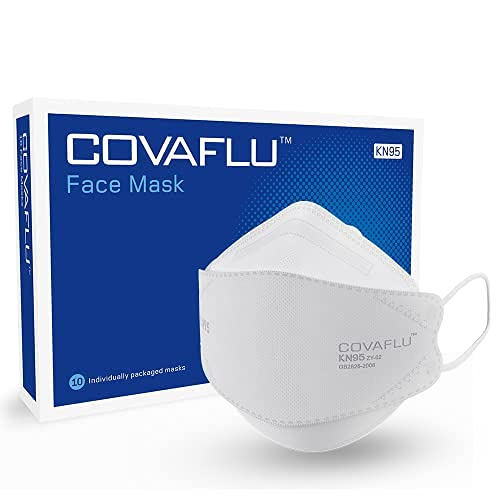 Covaflu Face Mask Pack of 10 Cup Shaped Masks Comfortable Fit